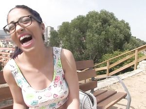 Glasses Slut Paid To Get Fucked Hard In Public
