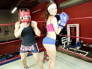 Sporty Teenage Slut Fucked By Her Sparring Partner