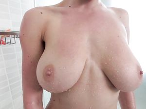Big Tits Slut Taken From Behind In The Shower