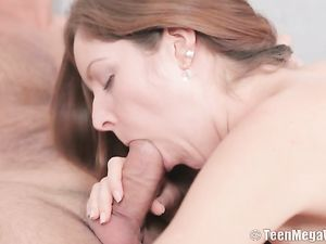 Petite Teen Stripped And Eaten Out By Her Man