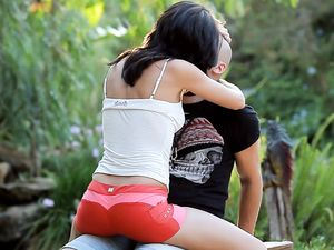 Erotic Teenage Sex From Behind In The Garden