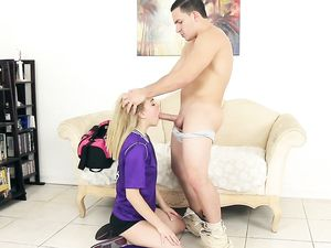 Teen CFNM Sex With A Cute Blonde Soccer Babe