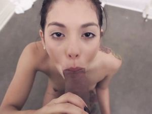 Tattooed Teen Does A POV Blowjob And Fuck Video