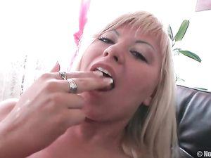 Puffy Nipples Girl Fucking A Big Dildo And Dick Erotically