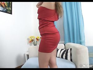 Big Teen Ass Looks Sexy Taking A Toy Inside It