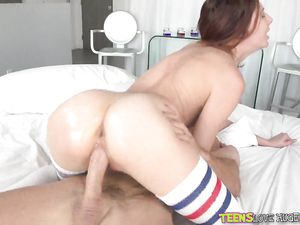 Redhead Rides And Her Pussy Is So Wet For Him