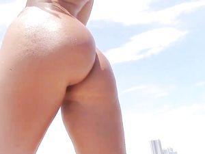 Tiny Tits And A Big Ass On The Hardcore Bikini Girl