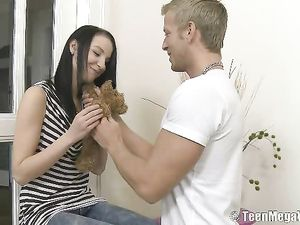 Hot Teen Hardcore With An Innocent Brunette Chick