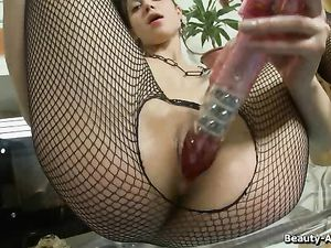 Slippery Young Cunt Opens Up For Hot Dildo Fucking