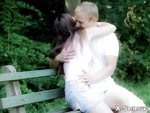 Gorgeous Girl In The Garden Fucking Her Man