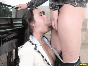 Preppy Schoolgirl Spreads For Big Cock Sex
