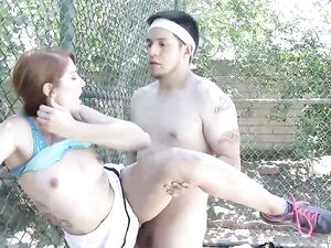 Teen Tennis Cuties Fuck A Guy Together After Practice
