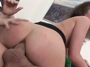 One Man And Two Anal Whores Have A Crazy Threesome