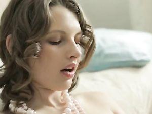 Stripping Russian Teen Cutie Fucks Her Favorite Big Dildo