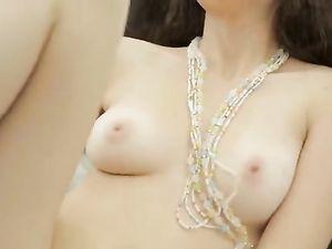 Spectacular Breasts On A Masturbating Girl Next Door