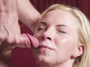Hot Facial Cumshot On This Pretty Blonde Teenager