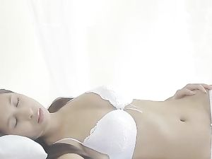 Erotic Tit Fondling And Solo Teen Masturbation