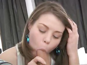 Shaved Wet Pussy Is What He Craves From The Teen Slut