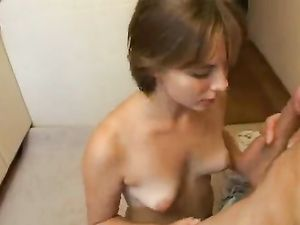 Naked 19 Year Old Sucks Dick From Her Knees