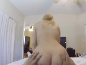 Big Ass Girl Bent Over In His Bed For POV Fucking