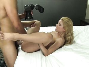Petite Blonde Teenager Gets A Cumshot On Her Ass