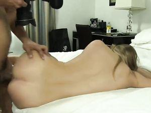 Juicy Ass Cumshot For A Porn First Timer Teen Gal
