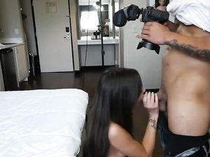 Skinny Pierced Beauty Makes Her First Porn Video