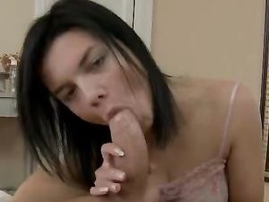 Stiff Shaft For The Lovely Teen's Tight Pussy