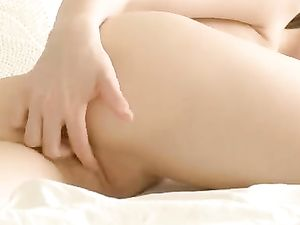Bed Morning Masturbation With A Cute Princess
