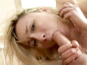 Teen Blonde In Fishnets Gets Anal Pounding