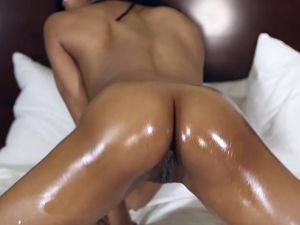 Cowgirl Ebony Teen Gets A Huge Load Of Cum On Her Face