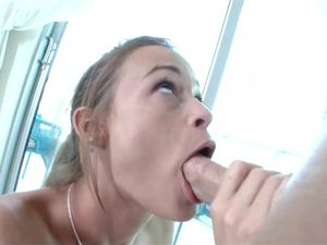 Doggy Style And Juicy Cum On Her Pretty Mouth