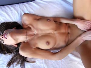 Tall Brunette Gets A Cum In Mouth After Fucking