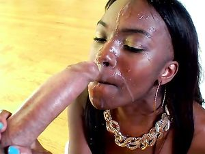 Tongue Fucked Young Black Cunt Is Ready For Big Cock