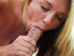 Brooke Wylde Straddles His Hard Cock And Bounces On It