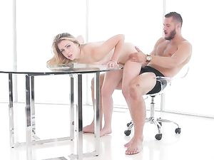 Her Beautiful Blowjob Arouses Him To Fuck Her Tight Cunt