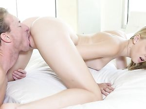 Teen On Her Knees Sucks Cock And Takes It Balls Deep