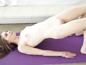 Nude Morning Yoga Makes Alice March Horny For Cock