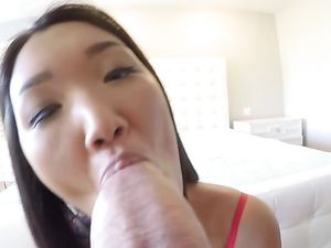Cute Asian Girlfriend Fucks You For Christmas