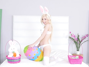 Petite Easter Bunny Slut Fucked By A Monster Cock