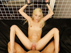 Kinky Bound Girl Is Here To Serve His Cock