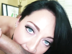 Dark Haired Perfection Is Great At Sucking Cock