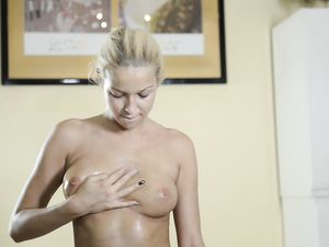 Sex Toys And A Busty Blonde Teen Have Fun