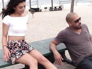 Hot Latina Gina Valentina Meets A Man To Bone Her