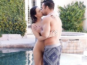 Curvy Body Girl Is His Anal Whore Outdoors