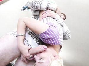 Masturbating Blonde Teen Wants A Big Dick Instead