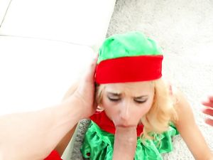 Cute Christmas Elf Fucks A Big Satisfying Dick