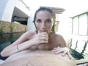 Bikini Girlfriend Strips For POV Sucking And Fucking
