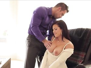 Tit Flashing Keisha Grey Fucks Her Horny Coworker