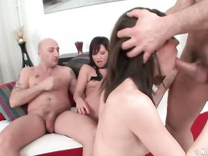 Cute Teens Get Dirty In A Wild Anal Foursome